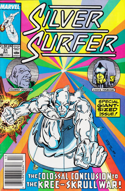 Cover for Silver Surfer (1987 series) #31 [Newsstand Edition]