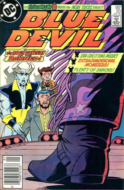Cover for Blue Devil (DC, 1984 series) #20 [Direct]