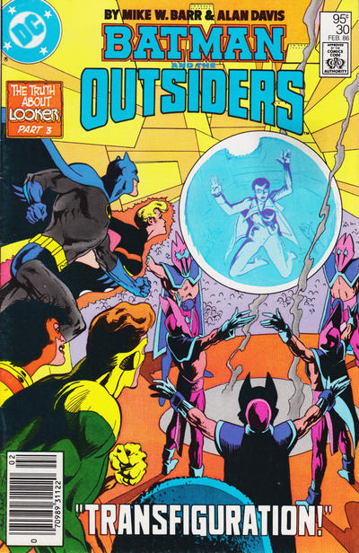 Cover for Batman and the Outsiders (DC, 1983 series) #30 [Canadian Newsstand]