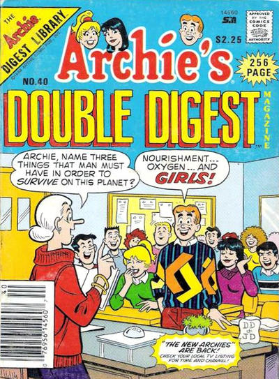 Cover for Archie's Double Digest Magazine (Archie, 1984 series) #40