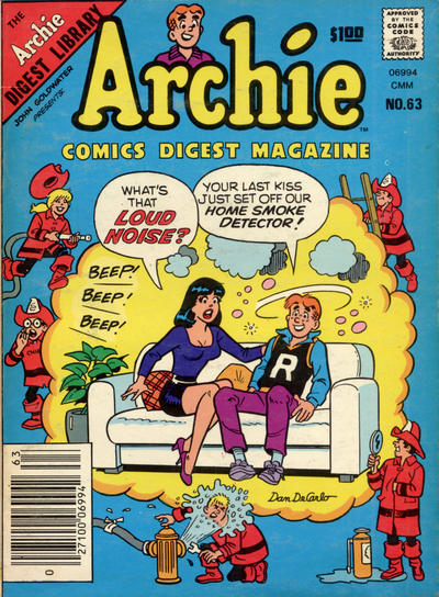 Cover for Archie Comics Digest (Archie, 1973 series) #63