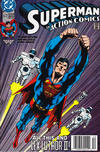 Cover Thumbnail for Action Comics (1938 series) #672 [Newsstand]