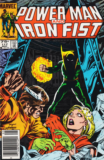 Cover for Power Man and Iron Fist (Marvel, 1981 series) #117 [newsstand 65¢ edition]