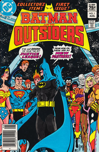 Cover for Batman and the Outsiders (DC, 1983 series) #1 [Canadian Newsstand]