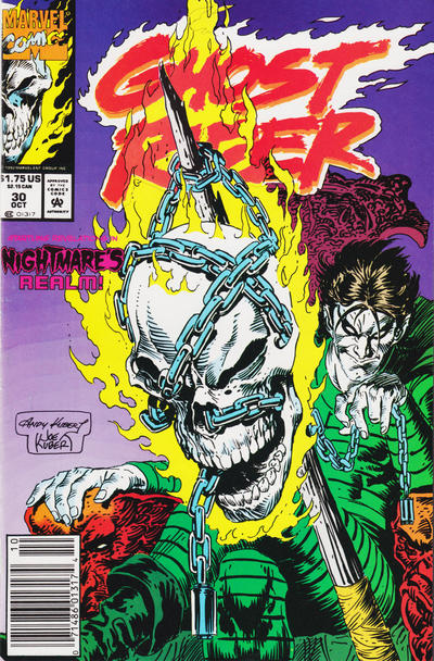 Cover for Ghost Rider (1990 series) #30 [Newsstand Edition]