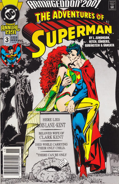 Cover for Adventures of Superman Annual (DC, 1987 series) #3 [Newsstand]