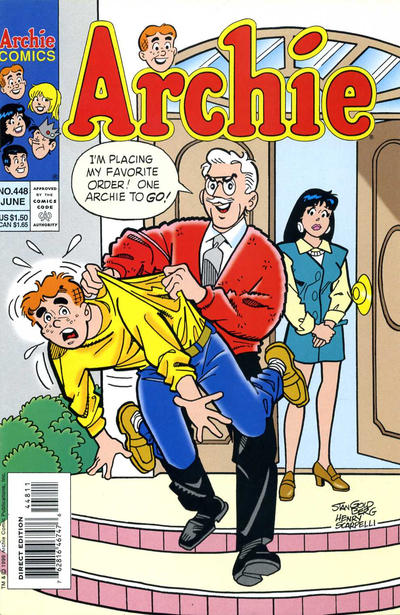 Cover for Archie (Archie, 1959 series) #448 [Newsstand]