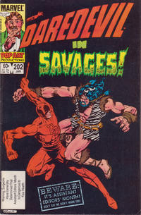 Cover Thumbnail for Daredevil (Marvel, 1964 series) #202 [Direct Edition]