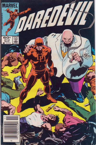 Cover for Daredevil (1964 series) #212 [Newsstand]