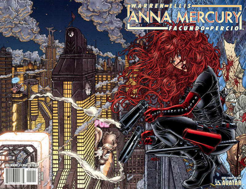 Cover for Anna Mercury (Avatar Press, 2008 series) #4 [Auxiliary Cover Richard Ortiz]