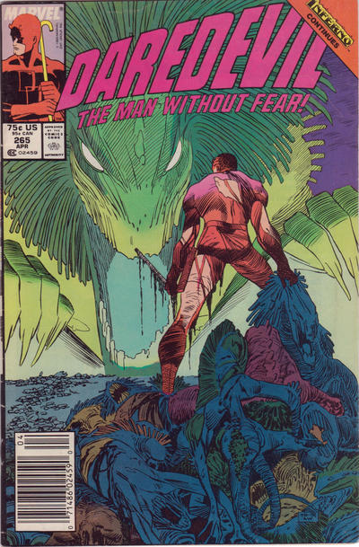 Cover for Daredevil (1964 series) #265 [Direct Edition]