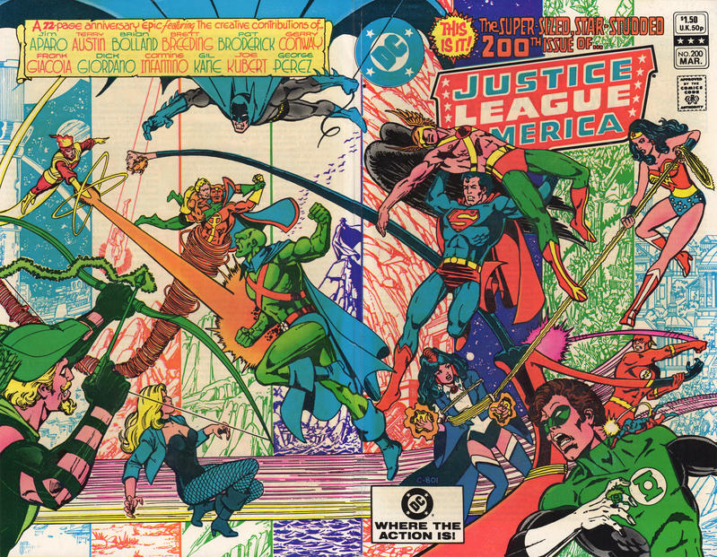 Cover for Justice League of America (DC, 1960 series) #200 [Newsstand]