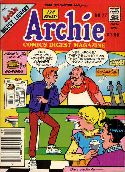Cover for Archie Comics Digest (1973 series) #77