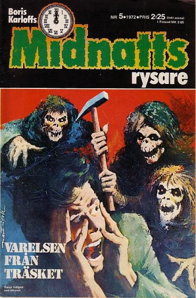 Cover for Boris Karloffs midnattsrysare (Semic, 1972 series) #5/1972