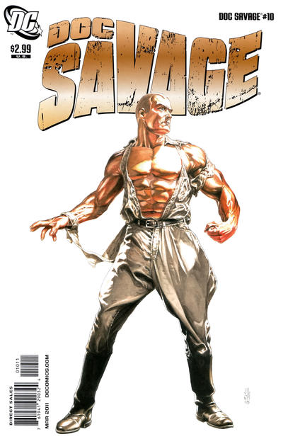 Cover for Doc Savage (DC, 2010 series) #10