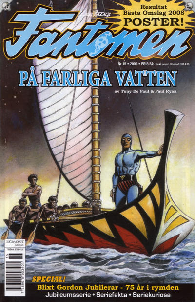 Cover for Fantomen (Egmont, 1997 series) #15/2009