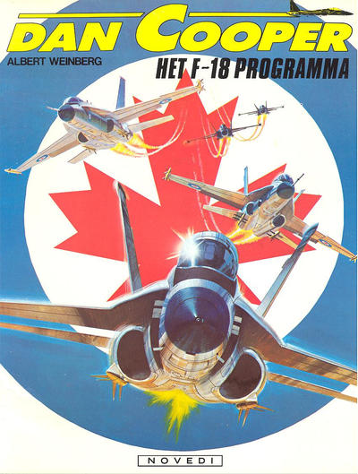 Cover for Dan Cooper (Novedi, 1981 series) #27 - Het F-18 programma