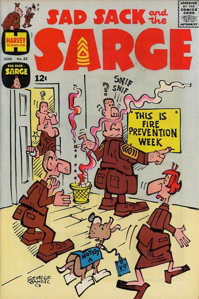 Cover for Sad Sack and the Sarge (1957 series) #62