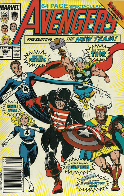 Cover for The Avengers (1963 series) #300 [Direct Edition]