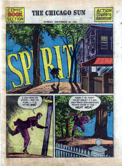 Cover for The Spirit (Register and Tribune Syndicate, 1940 series) #12/16/1945