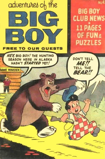 Cover for Adventures of the Big Boy (Webs Adventure Corporation, 1957 series) #42 [West]