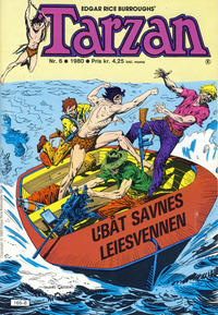 Cover Thumbnail for Tarzan (Atlantic Forlag, 1977 series) #6/1980