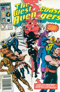 Cover Thumbnail for West Coast Avengers (Marvel, 1985 series) #37 [Newsstand Edition]