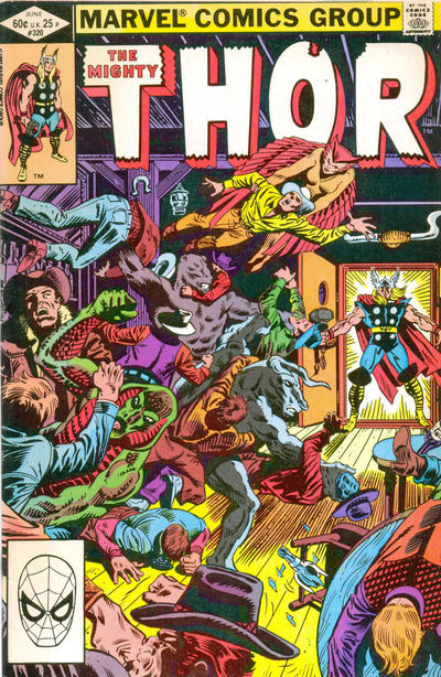 Cover for Thor (Marvel, 1966 series) #320 [direct edition]
