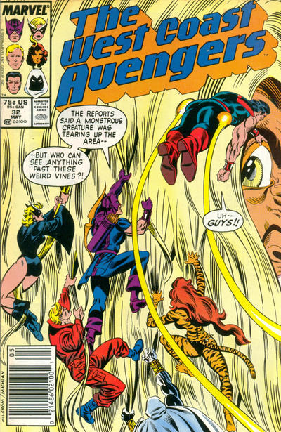 Cover for West Coast Avengers (Marvel, 1985 series) #32 [Direct Edition]