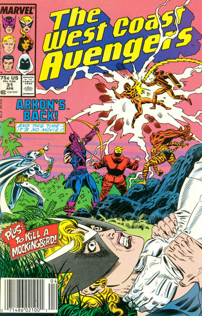 Cover for West Coast Avengers (Marvel, 1985 series) #31 [Newsstand Edition]