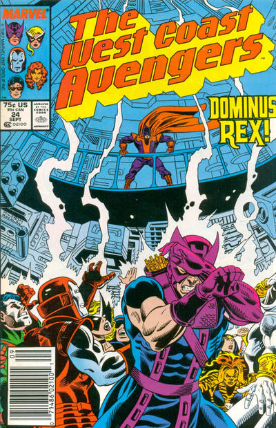 Cover for West Coast Avengers (Marvel, 1985 series) #24 [Newsstand Edition]