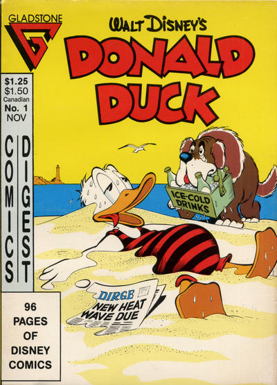 Cover for Donald Duck Comics Digest (Gladstone, 1986 series) #1 [Newsstand edition]