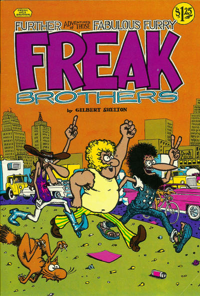 Cover for The Fabulous Furry Freak Brothers (Rip Off Press, 1971 series) #2 [2.95 USD 13th print]