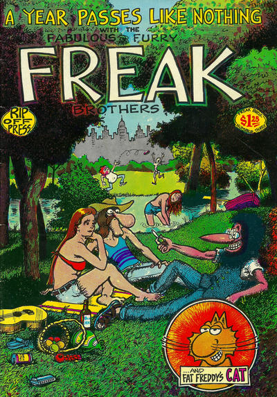 Cover for The Fabulous Furry Freak Brothers (Rip Off Press, 1971 series) #3 [3.95 USD 12th print]