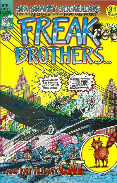 Cover for The Fabulous Furry Freak Brothers (Rip Off Press, 1971 series) #6 [3.95 USD 8th print]