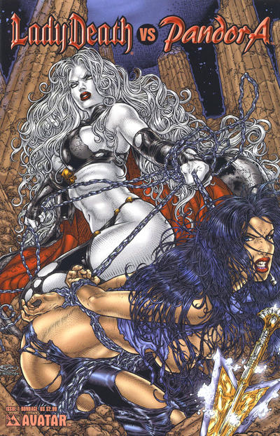 Cover for Lady Death vs Pandora (2007 series) #1 [Fetish]