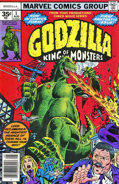 Cover for Godzilla (Marvel, 1977 series) #1 [30¢ Cover Price]