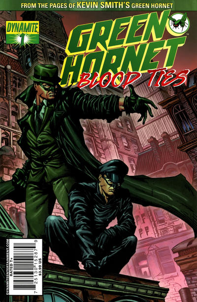 Cover for Green Hornet: Blood Ties (Dynamite Entertainment, 2010 series) #1 [Black-and-White Variant]