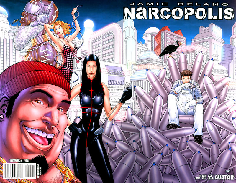 Cover for James Delano's Narcopolis (Avatar Press, 2008 series) #1 [Design Sketch]