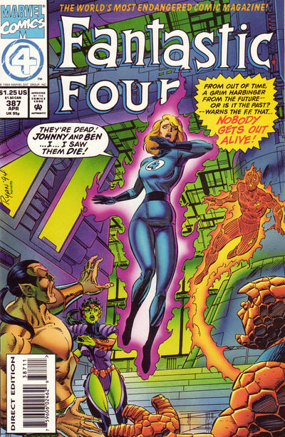 Cover for Fantastic Four (Marvel, 1961 series) #387 [Regular Cover]