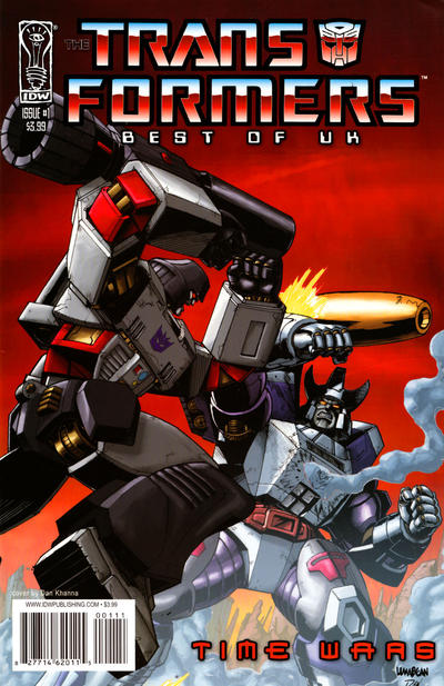 Cover for Transformers: Best of UK - Time Wars (2008 series) #1 [Regular Cover]