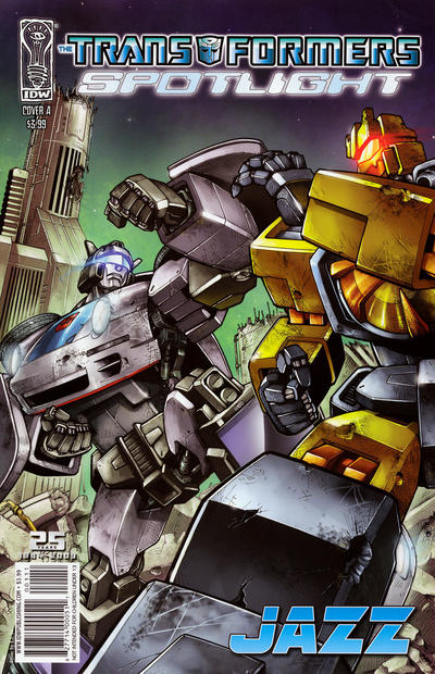 Cover for The Transformers Spotlight: Jazz (2009 series) #[nn] [Cover B]