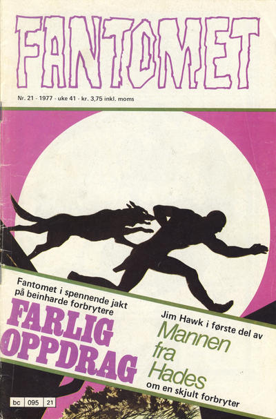 Cover for Fantomet (Semic, 1976 series) #21/1977