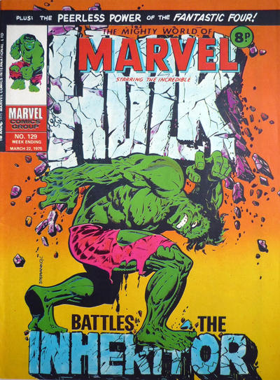 Cover for The Mighty World of Marvel (Marvel UK, 1972 series) #129