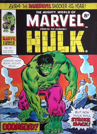 Cover for The Mighty World of Marvel (Marvel UK, 1972 series) #193