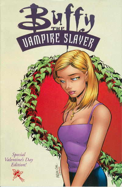 Cover for Buffy the Vampire Slayer (1998 series) #17 [Special Valentine's Day Edition - Purple Foil]