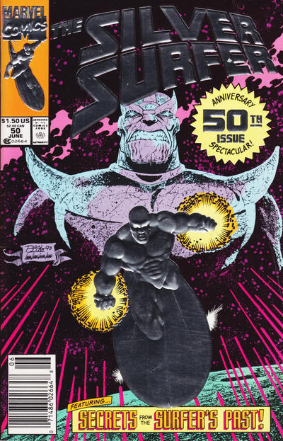 Cover for Silver Surfer (Marvel, 1987 series) #50 [Second Printing]