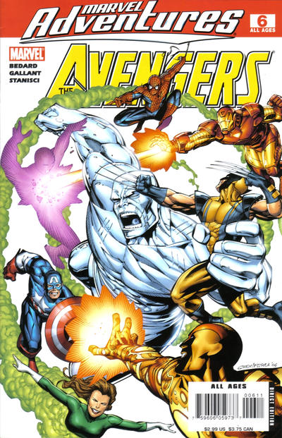 Cover for Marvel Adventures The Avengers (2006 series) #6 [Direct Edition]