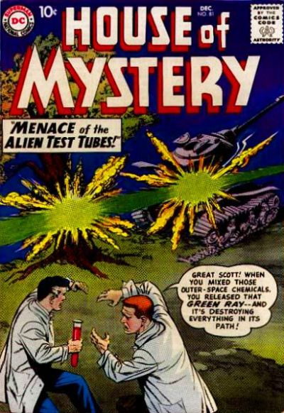 Cover for House of Mystery (1951 series) #81