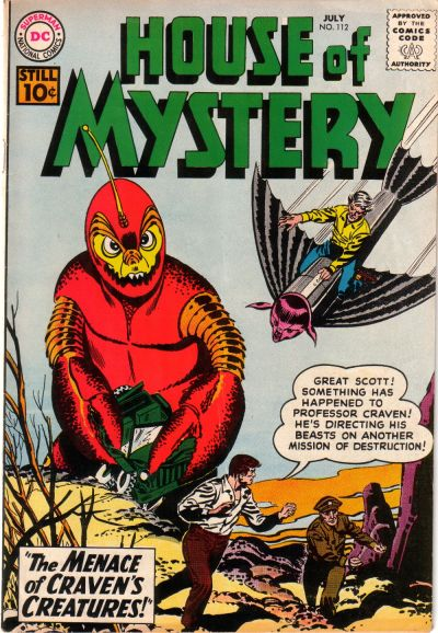 Cover for House of Mystery (1951 series) #112